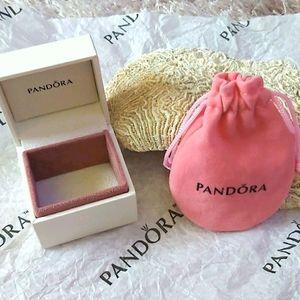 💝💝💝 Pandora Small Box And Pink Pouche